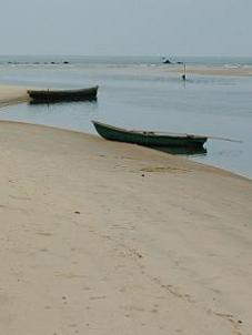 Goa beach boats