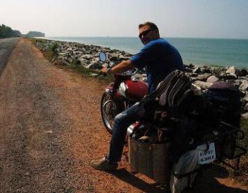 Riding Royal Enfield Motorcycle